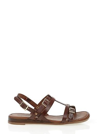 %100 Deri Sandalet-Greyder